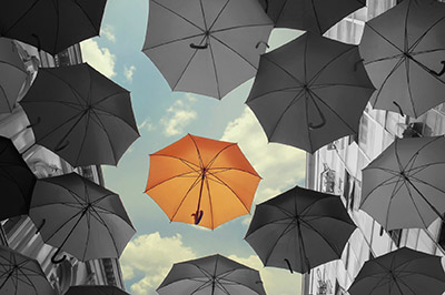 Umbrellas-Orange-and-Gray